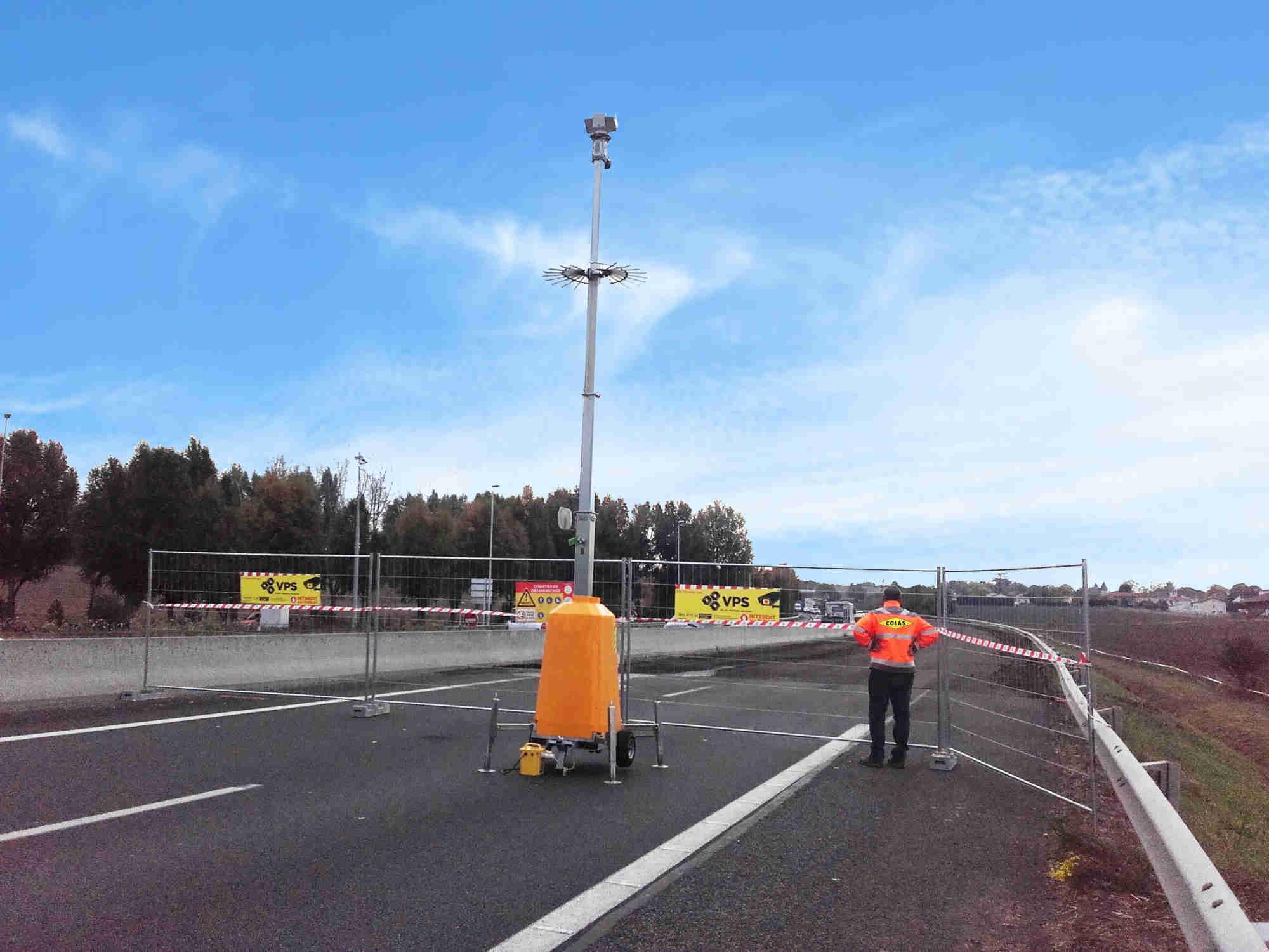 Smart Tower sécurise les chantiers autoroutiers