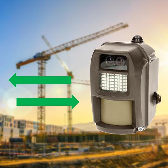 connectivité sans fils caméra intrusion chantier